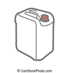 Vector icon of plastic canister