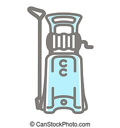 Vector icon of pressure washer - Vector colorful...