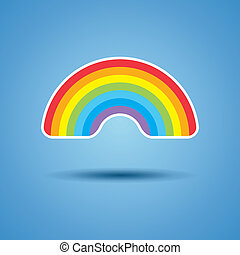 vector icon of rainbow