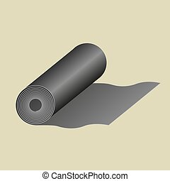 vector icon of roll of fabric or paper roll. Textile roll icon of vector illustration for web and mobile design eps10
