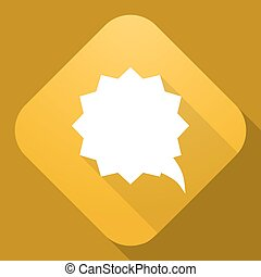 Vector icon of Speech Bubble with a long shadow