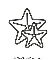 Vector icon of star fishes. Great for mobile and web apps.