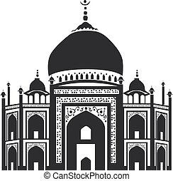 Vector icon of Taj Mahal