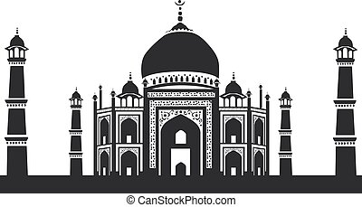 Vector icon of Taj Mahal