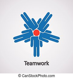 vector icon of teamwork concept