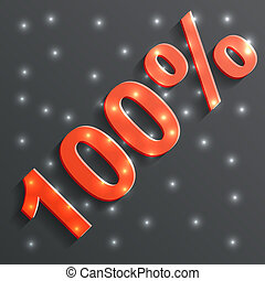 vector icon of the 100%
