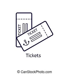 Vector icon of tickets on a white background.