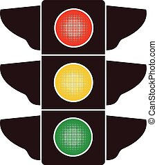 vector icon of traffic light