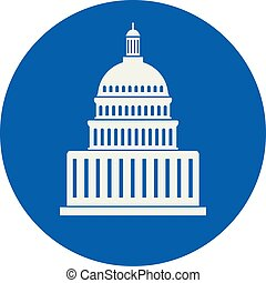 vector icon of united states capitol hill building