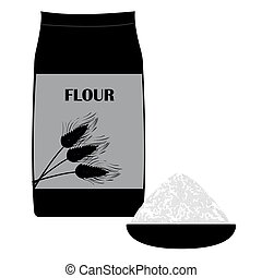 Vector icon of wheat flour