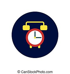 Vector icon on the white backgrounds in circles clock