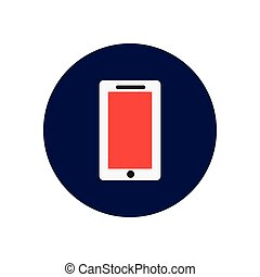 Vector icon on the white backgrounds in circles phone
