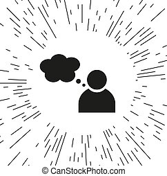 vector icon person with Speech