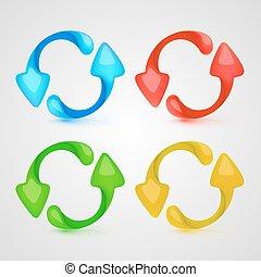 Vector icon refresh color set
