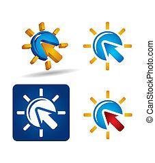 Vector icon set - arrows