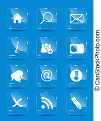 Vector icon set for web.