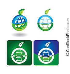 Vector icon set - globe