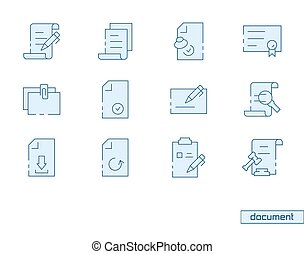 Vector icon set of document.