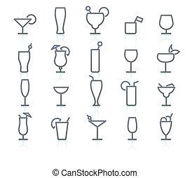 icon set - Vector icon set of original Alcohol Glasses of ...
