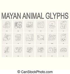 mayan animal glyphs
