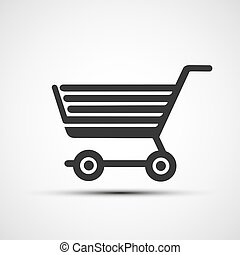 Vector icon shopping cart