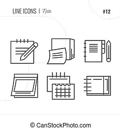 Vector Icon Style Illustration of notebook.