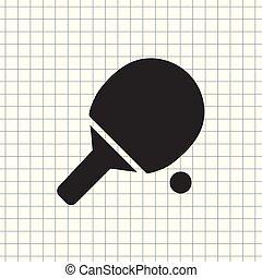 Vector icon tennis racket