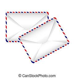 vector icon - two envelopes