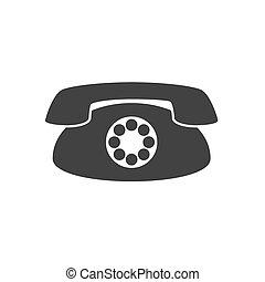 Vector icon vintage phone