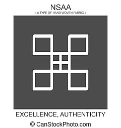 vector icon with african adinkra symbol Nsaa. Symbol of excellence and authenticity