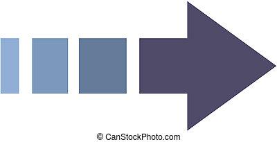 vector icon with arrow