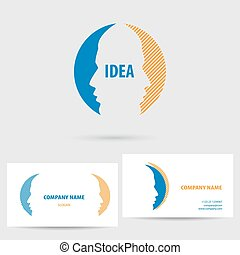 Vector icon with business card template.