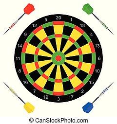 vector icon with darts