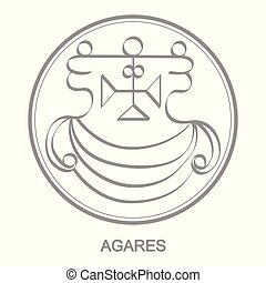 icon with symbol of demon Agares Sigil of Demon Agares -...