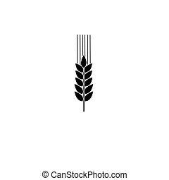 Vector icon with wheat spike