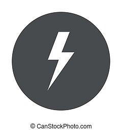 vector, icono, gris, moderno, círculo
