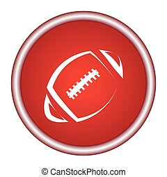 vector icons football white on a red background