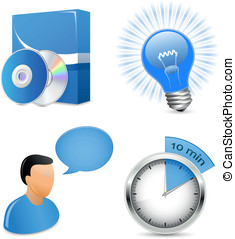 Vector Icons for Software Development Company or IT solution...
