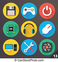 Vector Icons for Web. Set 13.