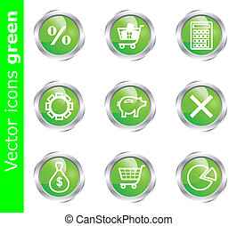 Vector icons green