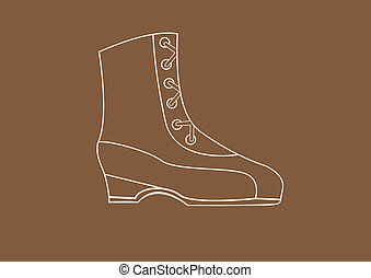 boot on a brown background