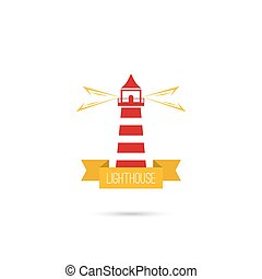 Vector icons lighthouse