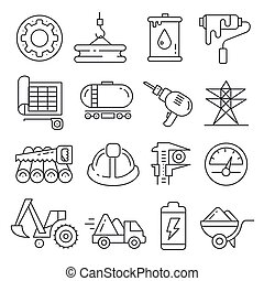 Vector icons lines set