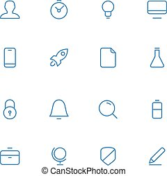 Vector icons material design style.