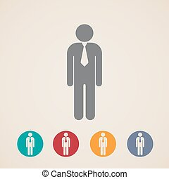 vector icons of businessman or manager