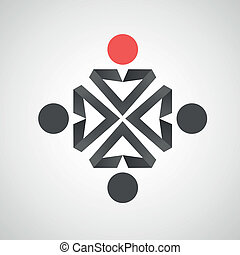 Vector icons of man Creative simple design