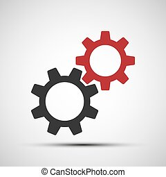 Vector icons of mechanical gears