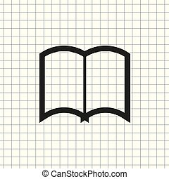 vector icons of open book