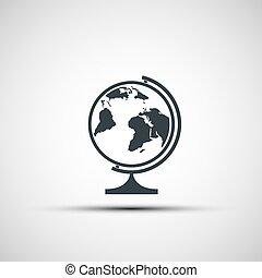 Vector icons of school globe