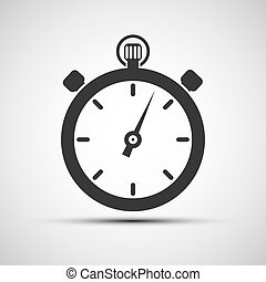 Vector icons of sports stopwatch